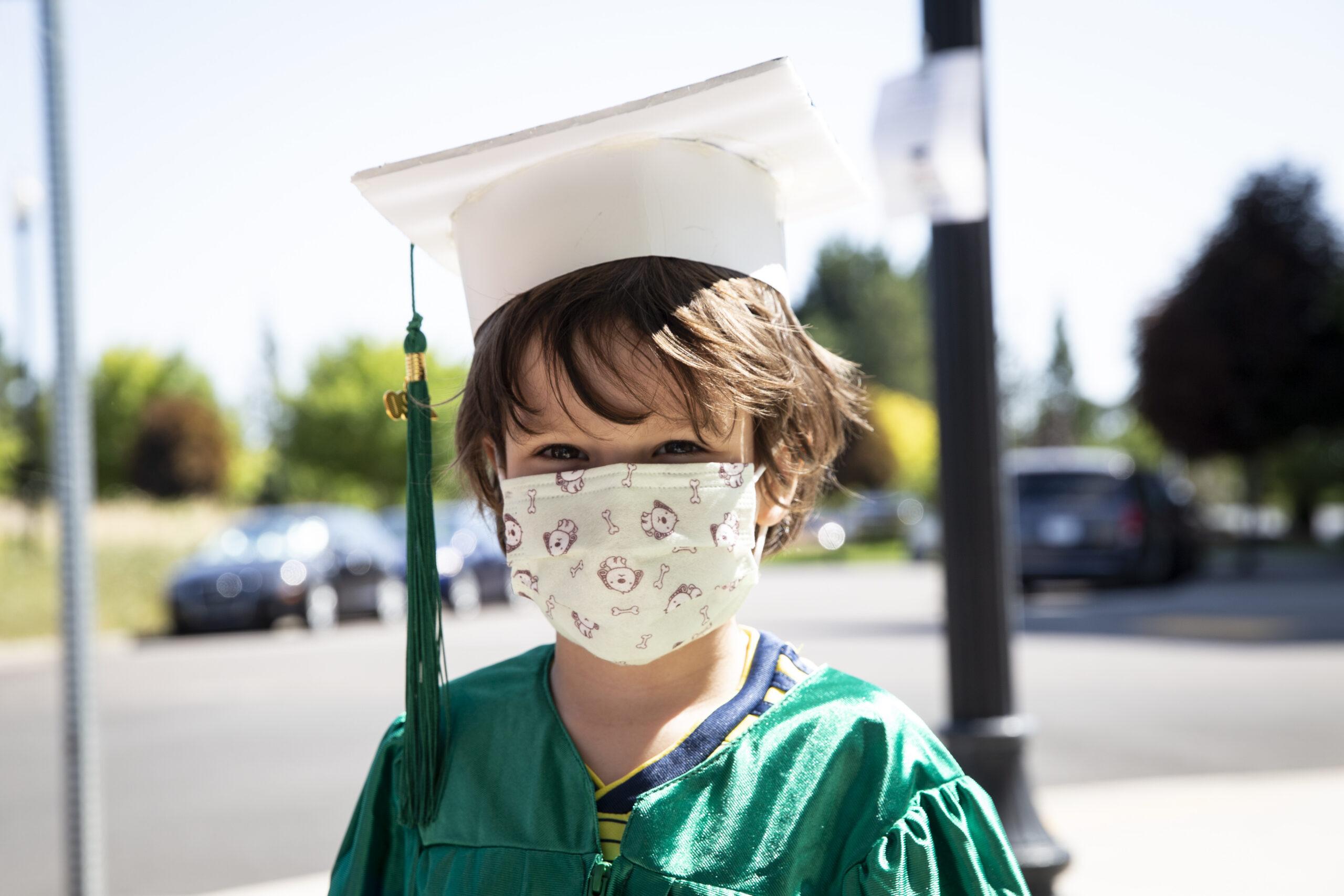 The Kozy Kids preschool graduation was held on Friday, July 31, 2020 in Beaverton, Oregon.